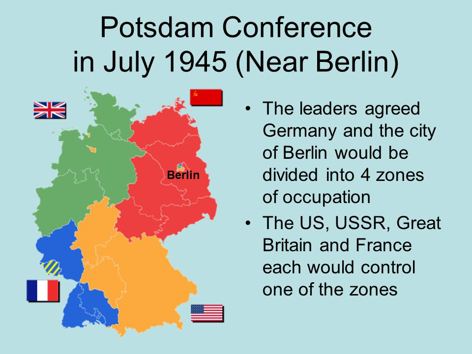 Potsdam Conference in July 1945 (Near Berlin)