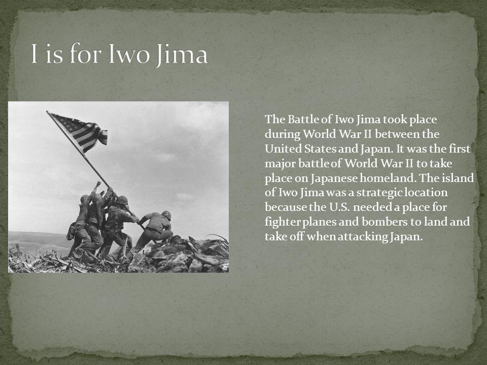 I is for Iwo Jima