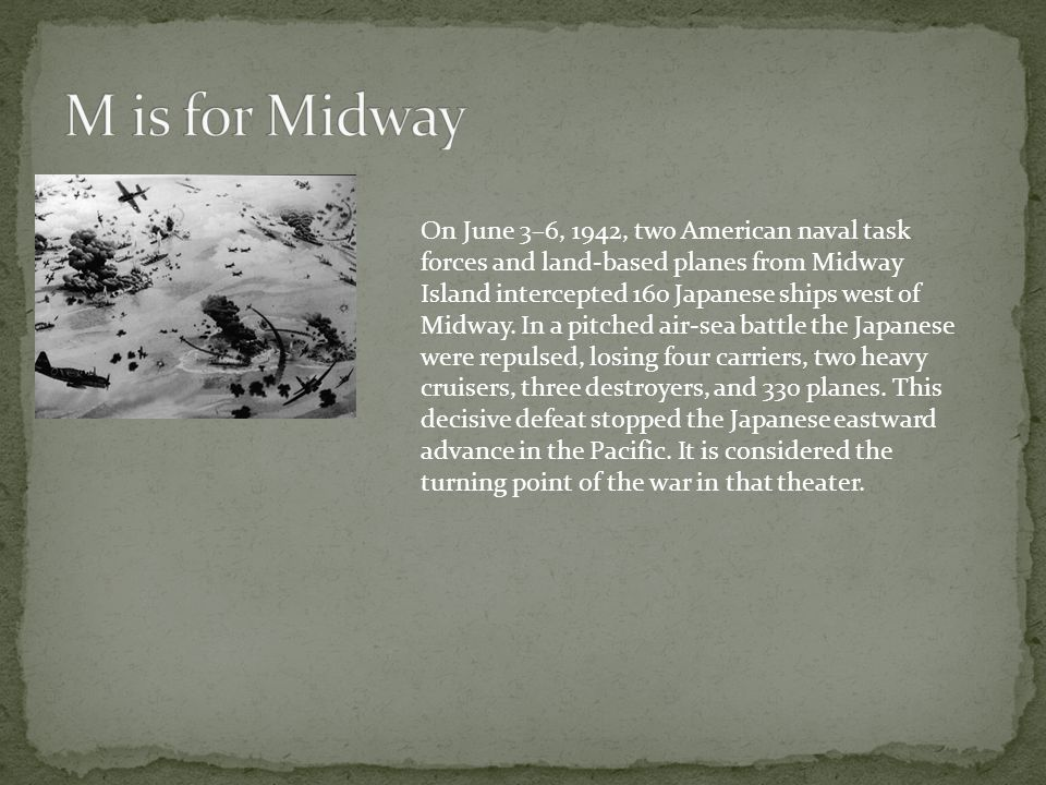 M is for Midway