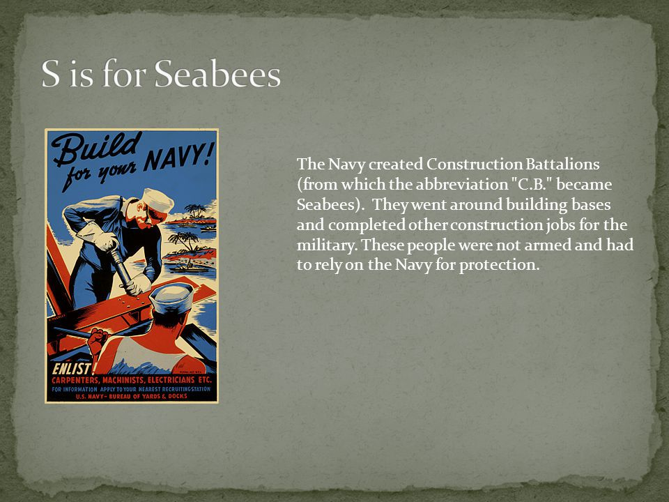 S is for Seabees