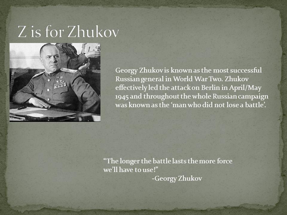 Z is for Zhukov
