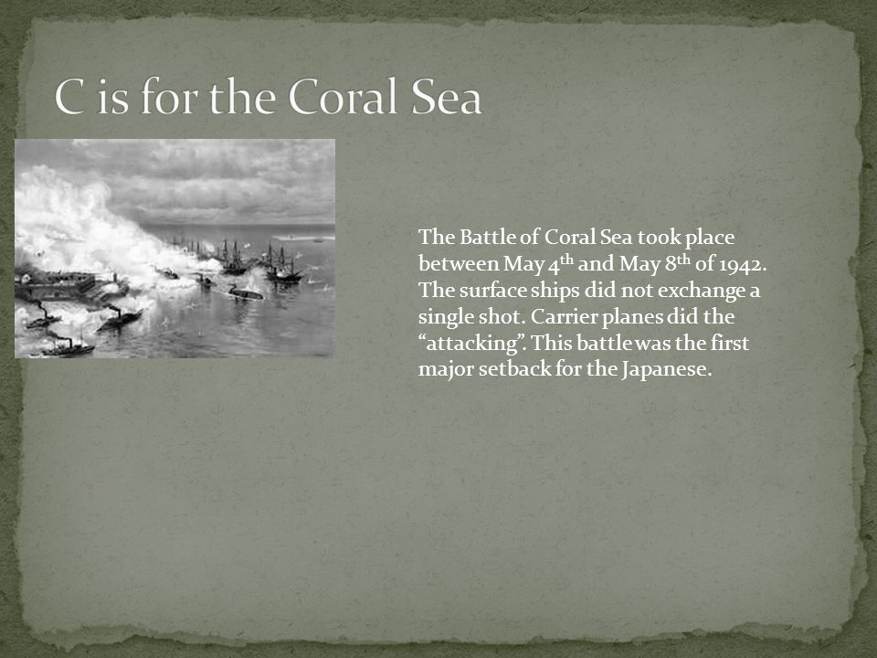 C is for the Coral Sea