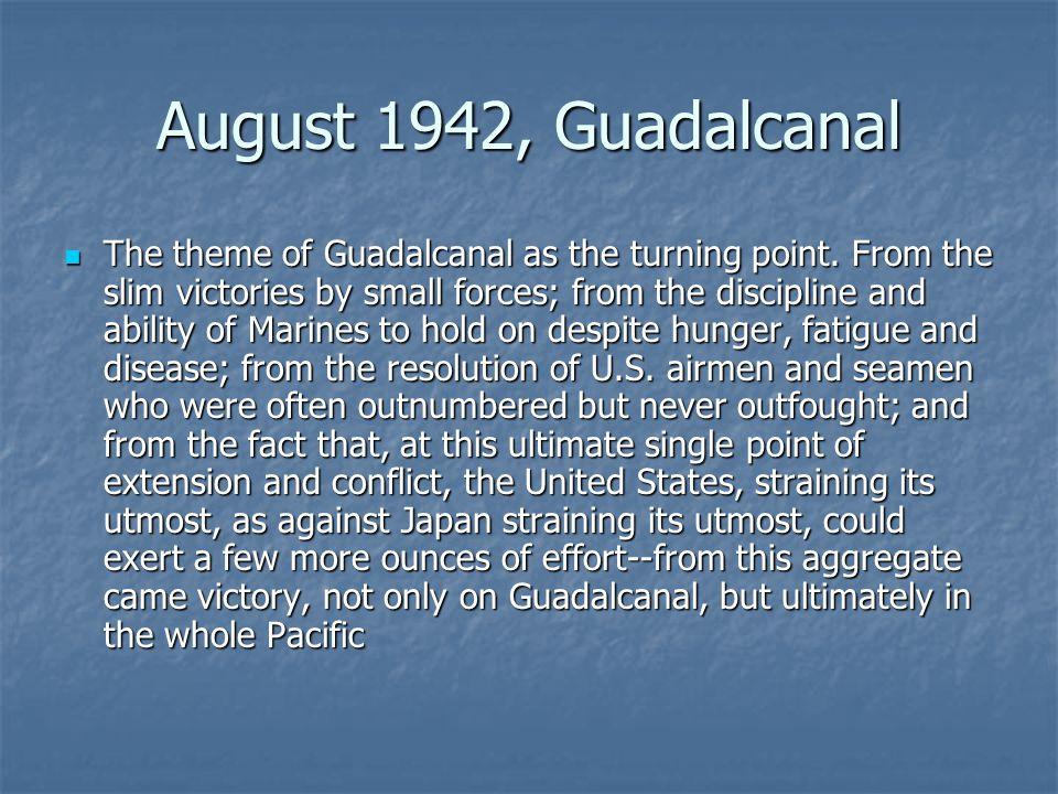 August 1942, Guadalcanal