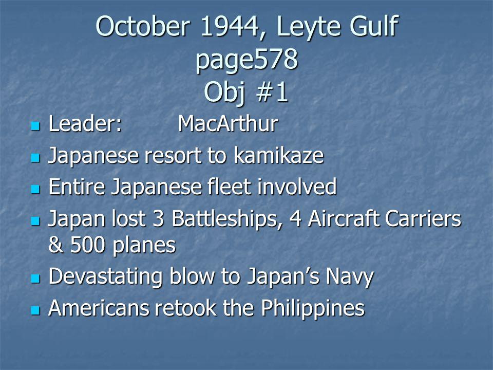 October 1944, Leyte Gulf page578 Obj #1