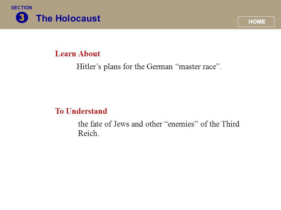 3 The Holocaust Learn About