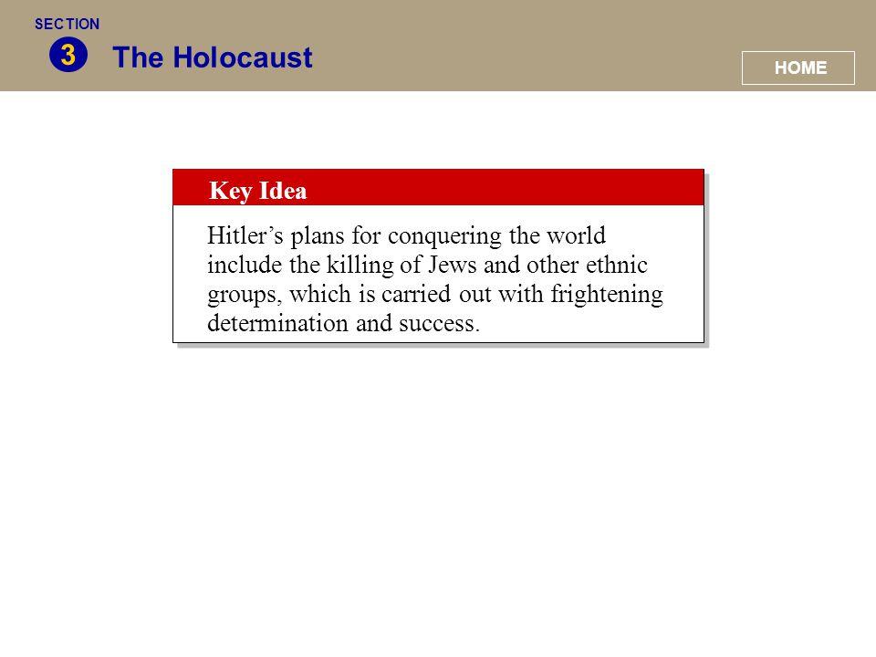 SECTION 3. The Holocaust. HOME. Key Idea.