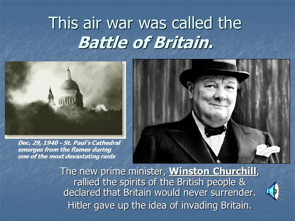 This air war was called the Battle of Britain.