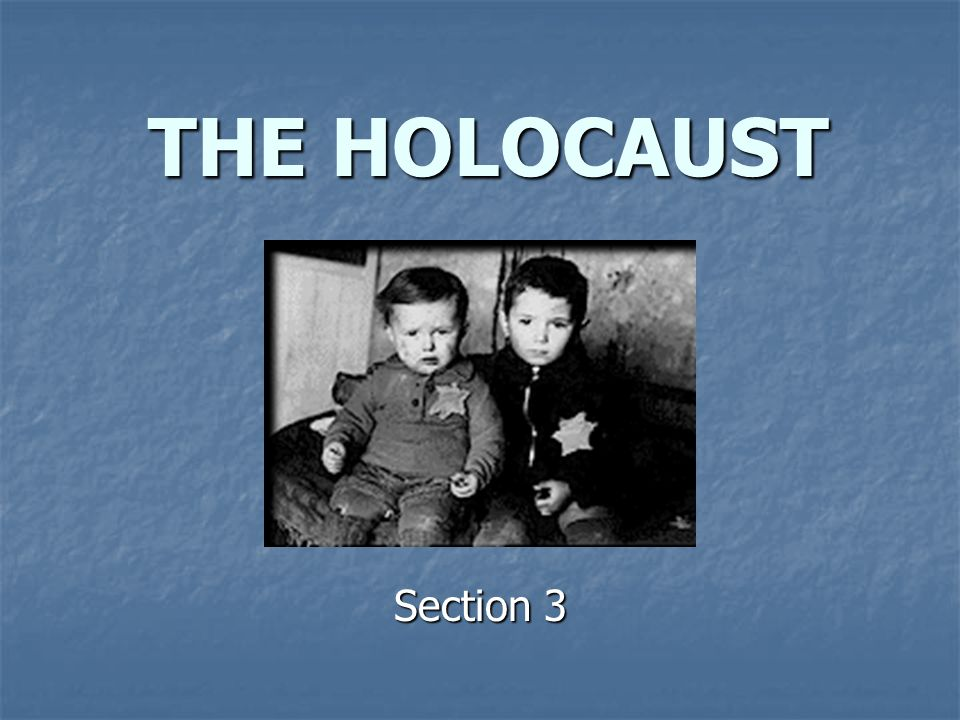 THE HOLOCAUST Section 3