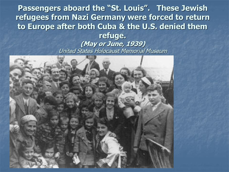 Passengers aboard the St. Louis