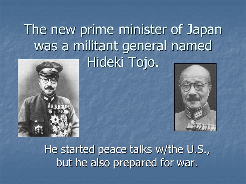 He started peace talks w/the U.S., but he also prepared for war.