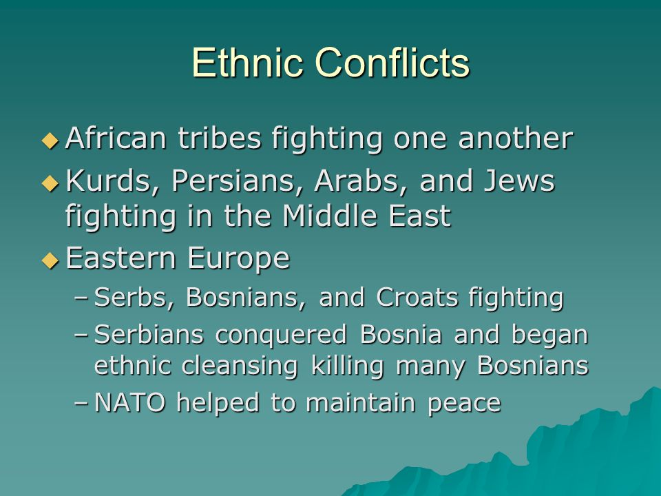 Ethnic Conflicts African tribes fighting one another