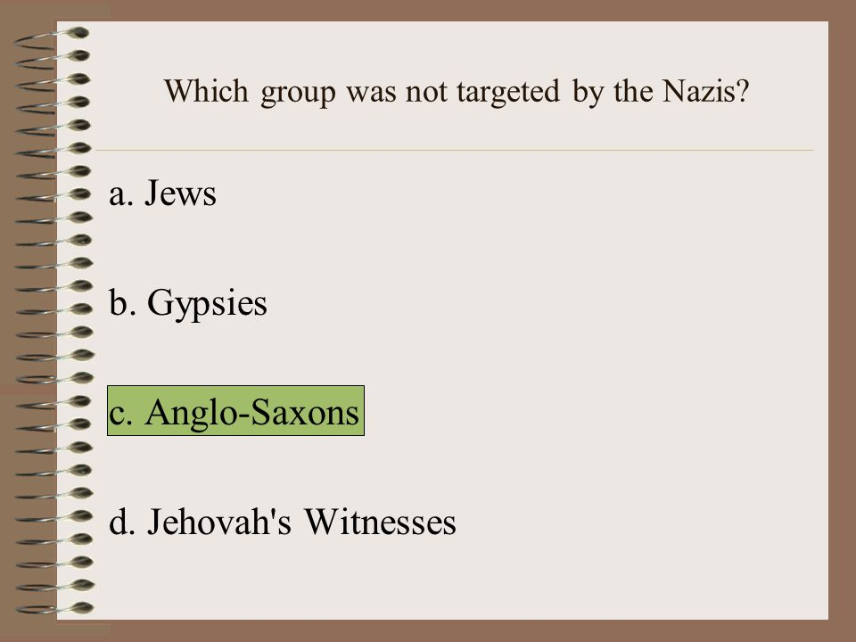 Which group was not targeted by the Nazis