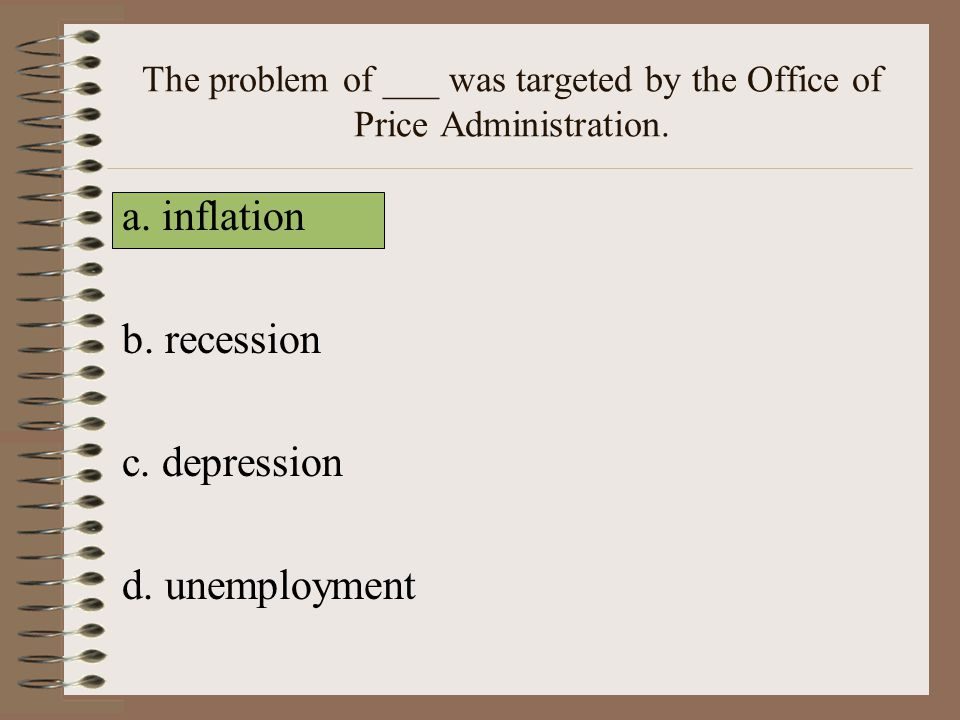 The problem of ___ was targeted by the Office of Price Administration.