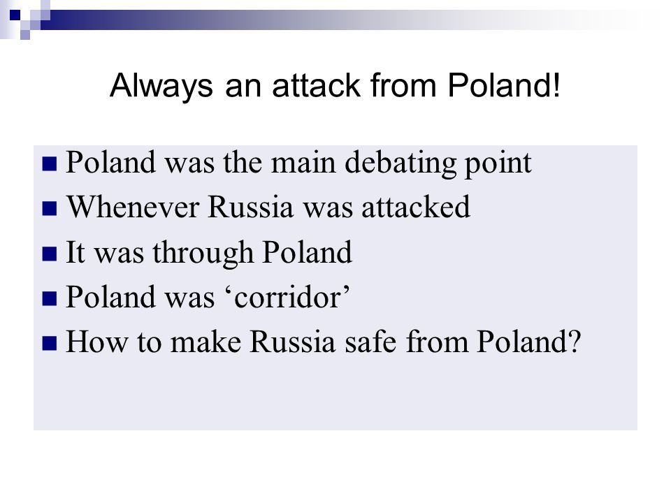 Always an attack from Poland!