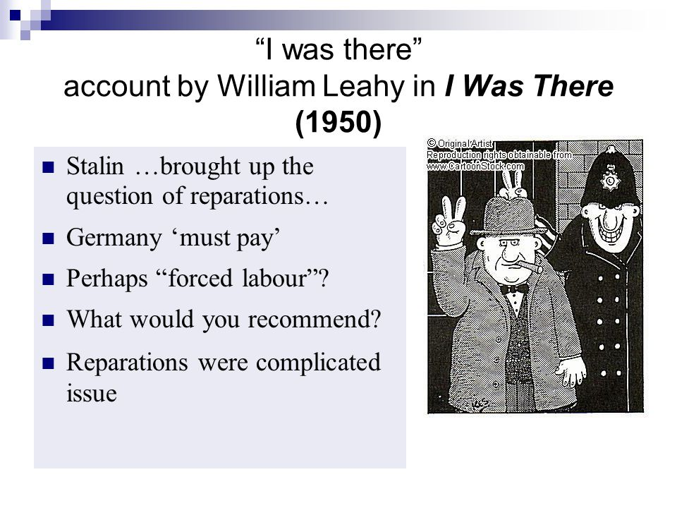I was there account by William Leahy in I Was There (1950)