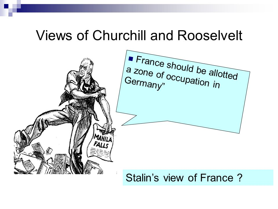 Views of Churchill and Rooselvelt