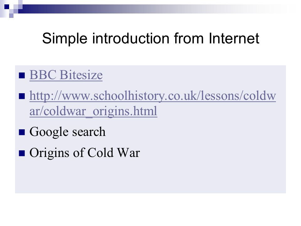 Simple introduction from Internet