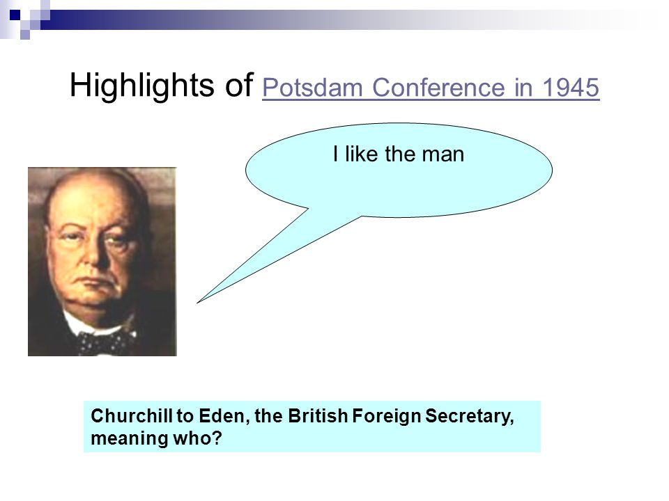 Highlights of Potsdam Conference in 1945