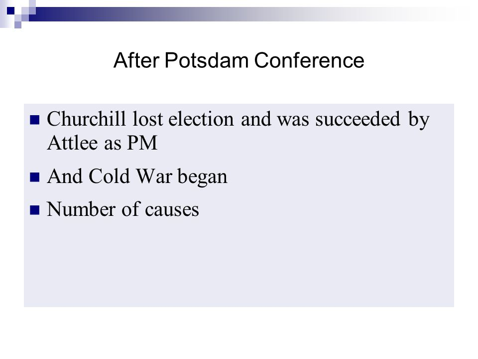 After Potsdam Conference