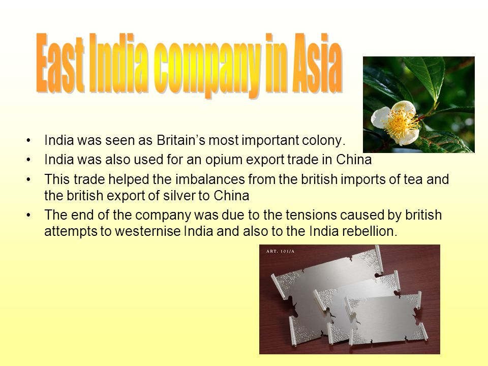 East India company in Asia