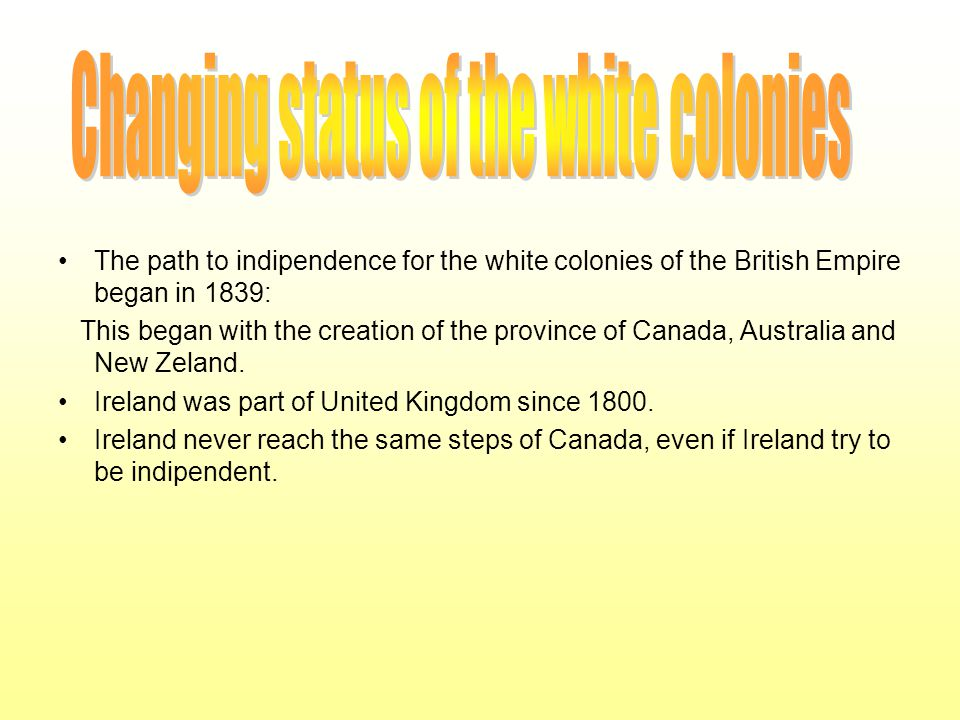 Changing status of the white colonies