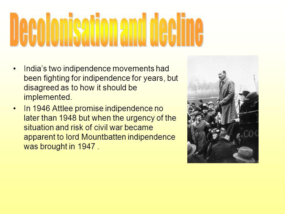 Decolonisation and decline