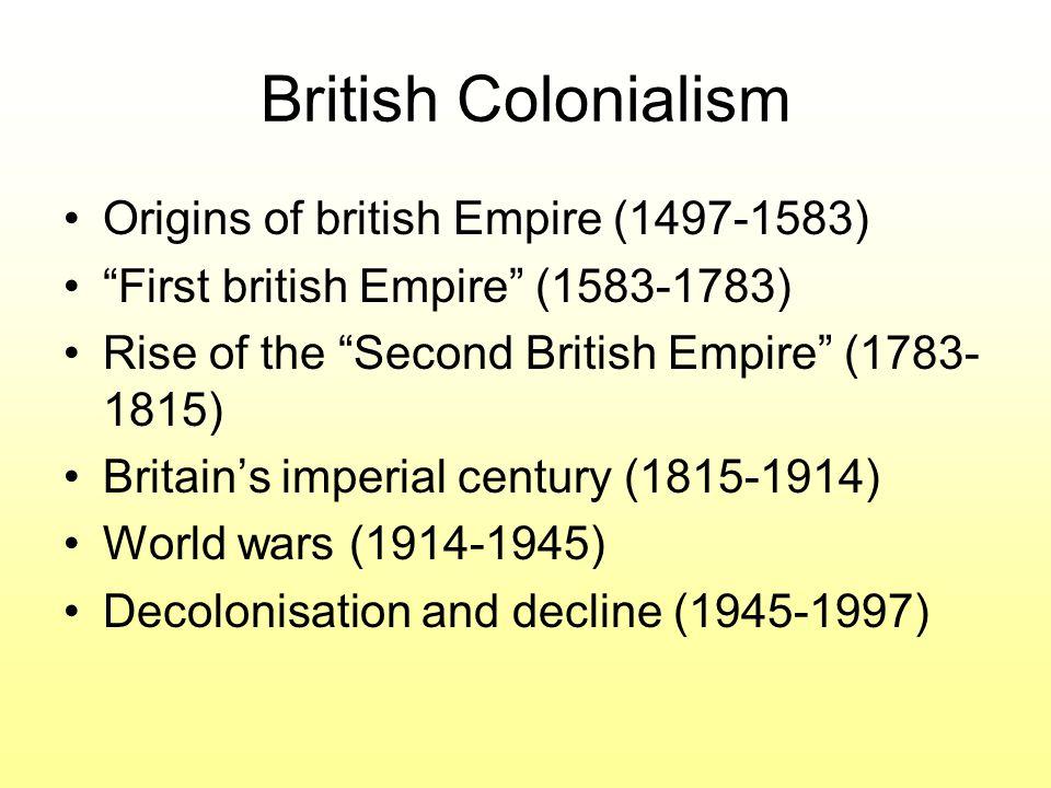 British Colonialism Origins of british Empire (1497-1583)