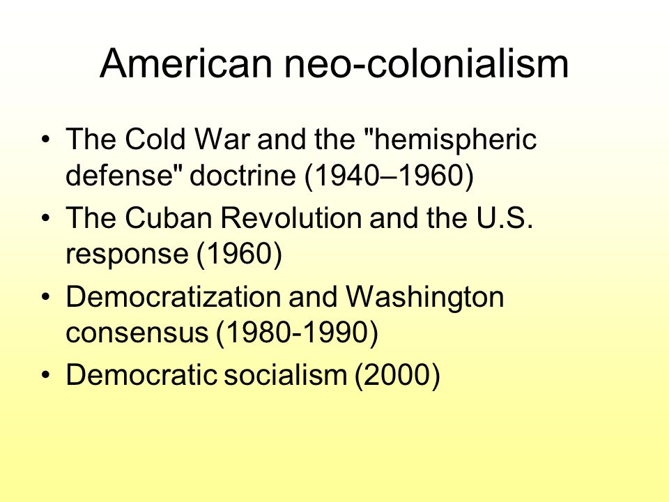 American neo-colonialism
