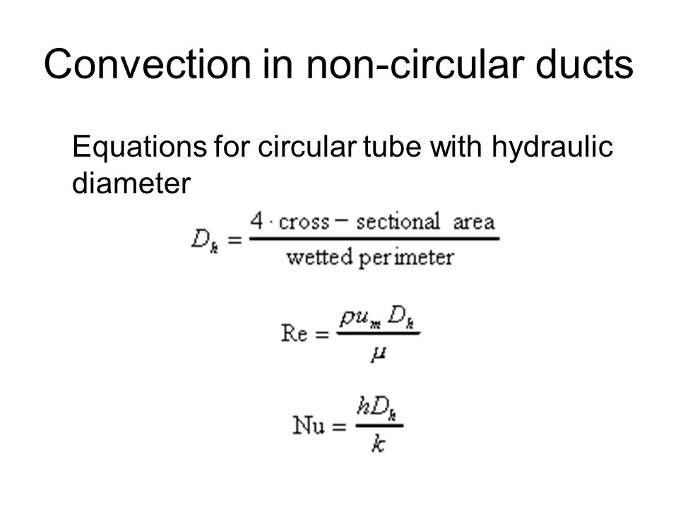 Convection in non-circular ducts