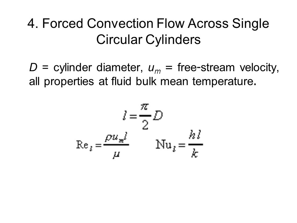 4. Forced Convection Flow Across Single Circular Cylinders
