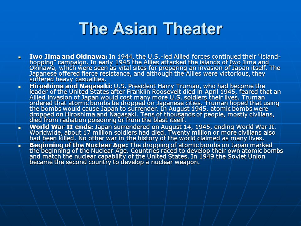 The Asian Theater
