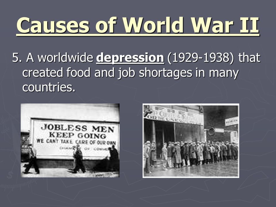 Causes of World War II 5.