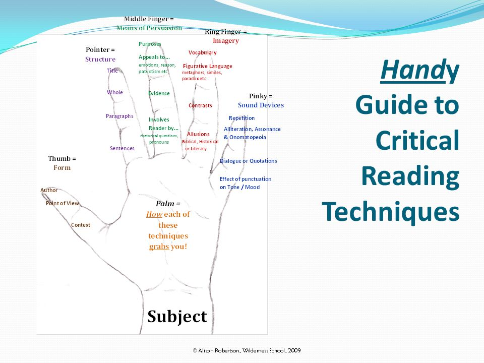 Handy Guide to Critical Reading Techniques