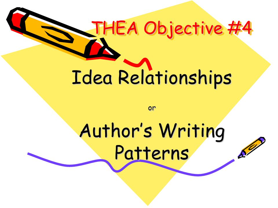 Idea Relationships or Author's Writing Patterns
