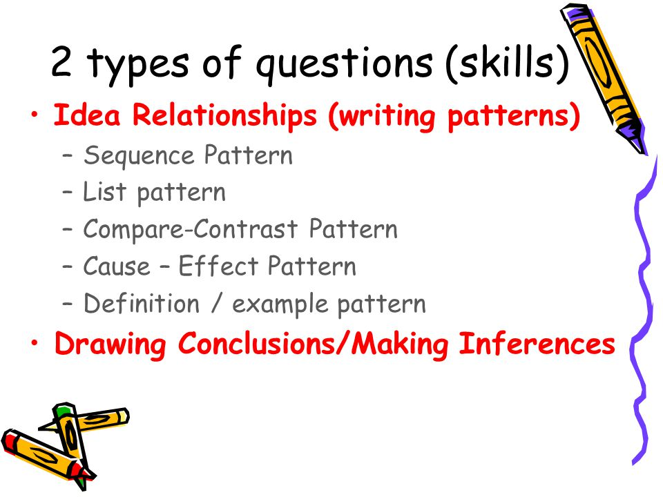 2 types of questions (skills)