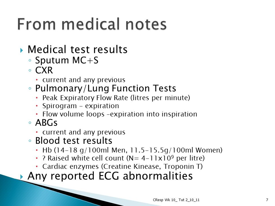 From medical notes Medical test results Any reported ECG abnormalities