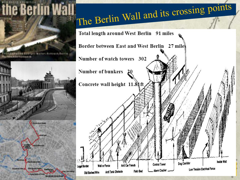 The Berlin Wall and its crossing points