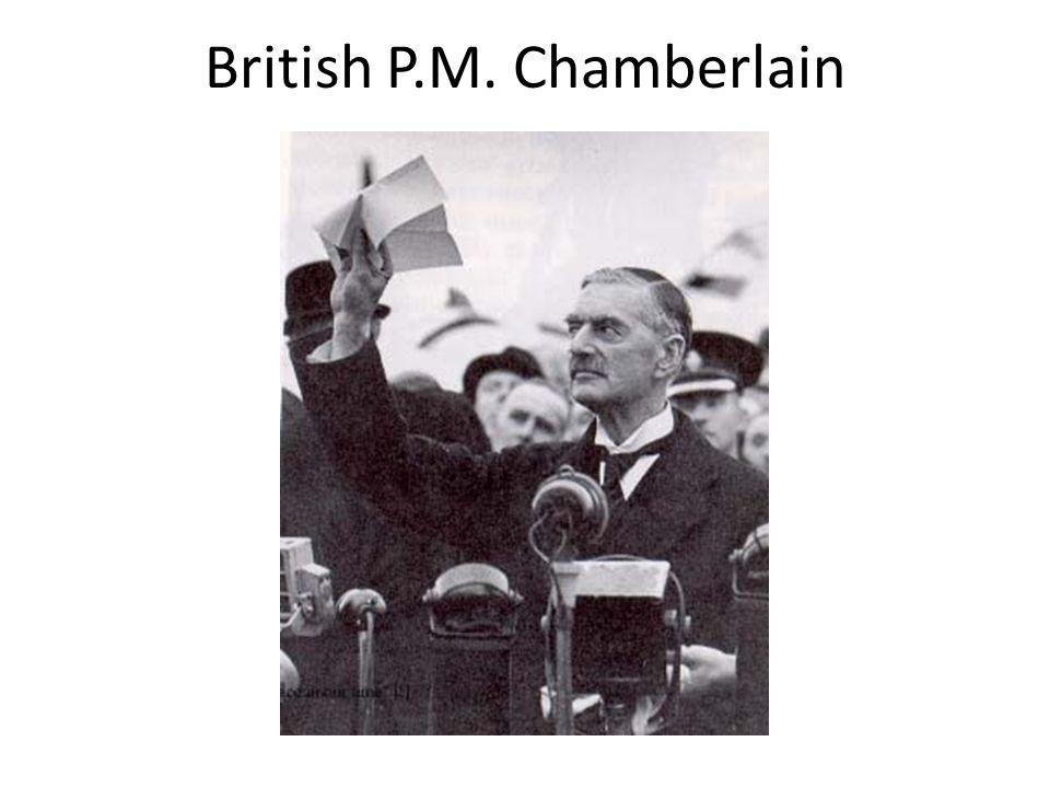 British P.M. Chamberlain