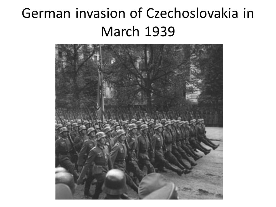 German invasion of Czechoslovakia in March 1939