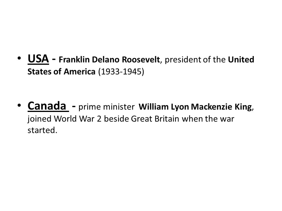 USA - Franklin Delano Roosevelt, president of the United States of America (1933-1945)