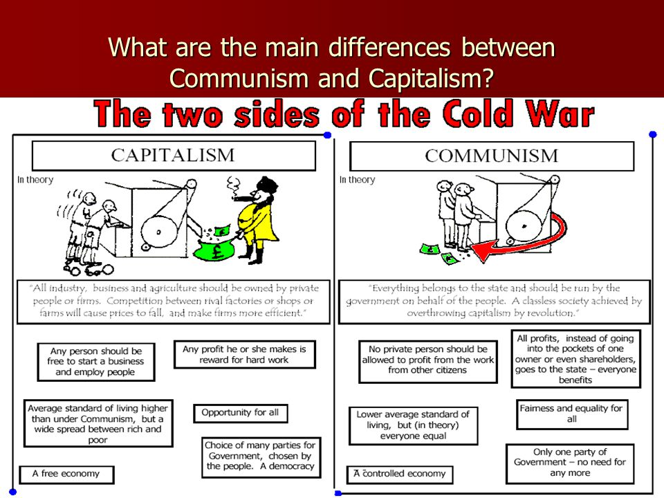 What are the main differences between Communism and Capitalism