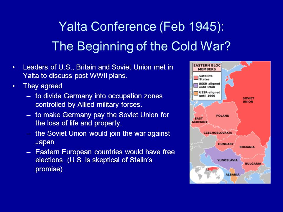 Yalta Conference (Feb 1945): The Beginning of the Cold War