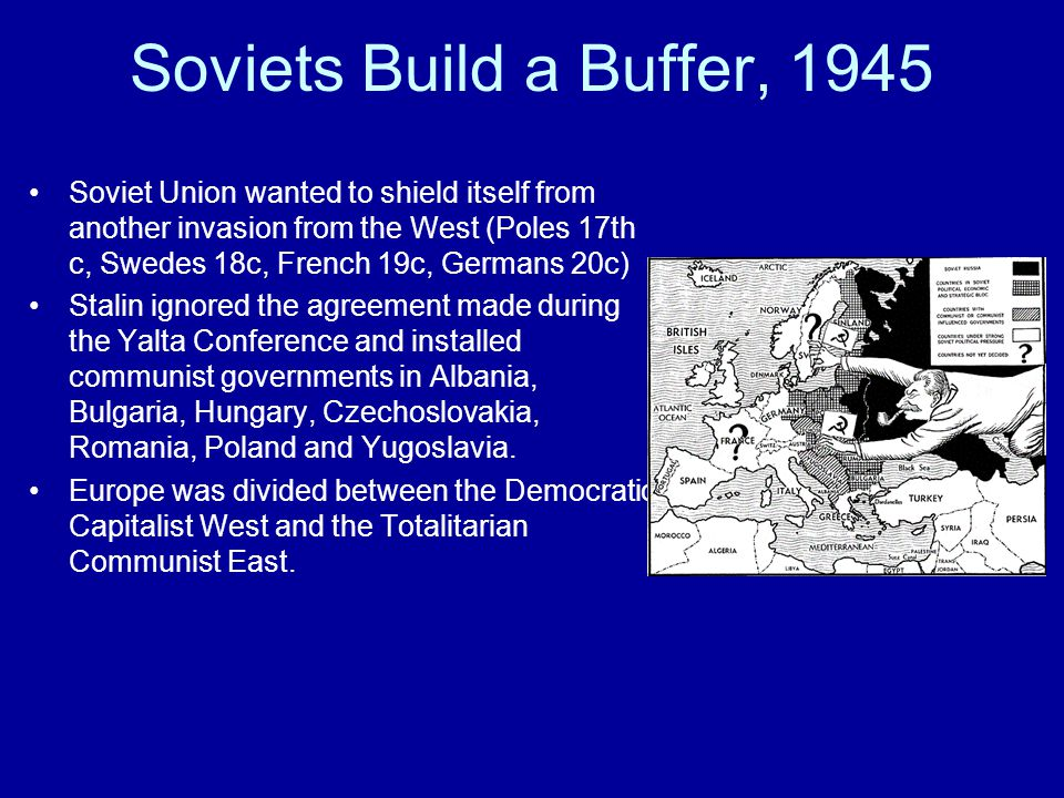Soviets Build a Buffer, 1945