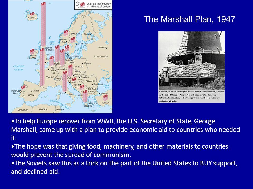 The Marshall Plan, 1947