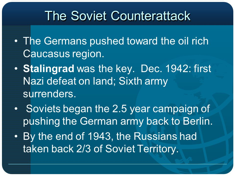 The Soviet Counterattack