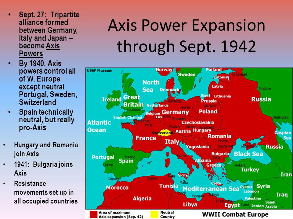Axis Power Expansion through Sept. 1942