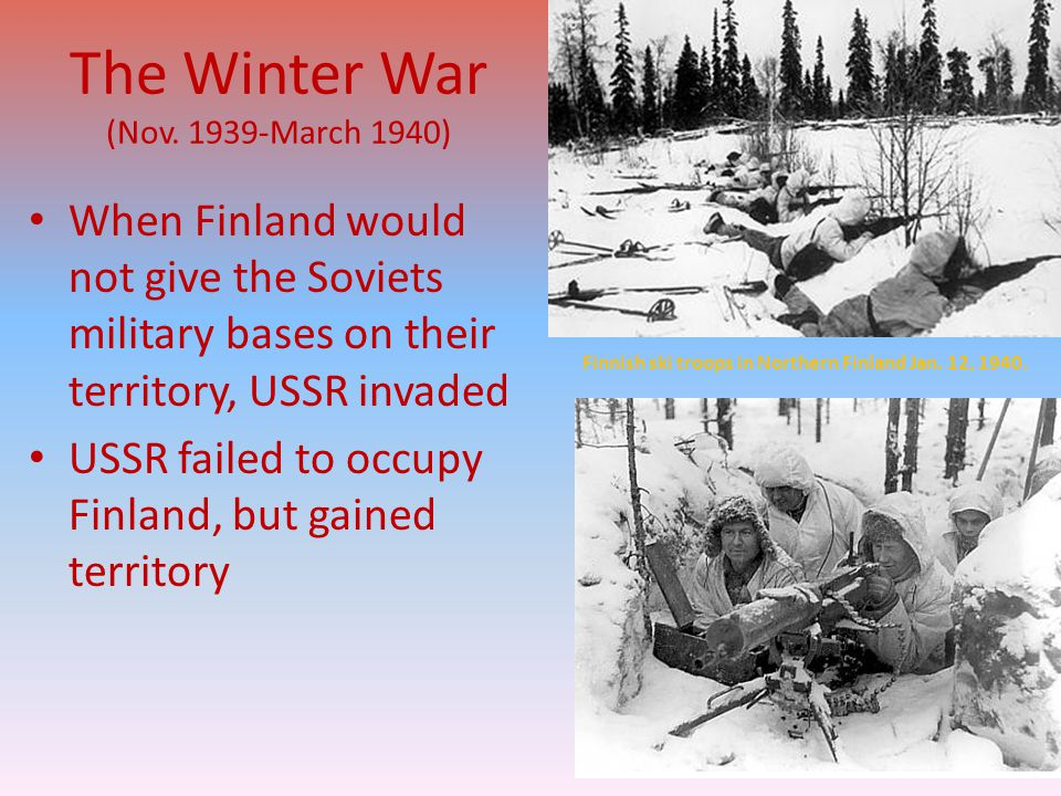 The Winter War (Nov. 1939-March 1940)