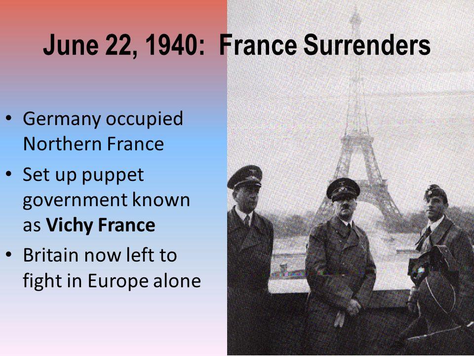 June 22, 1940: France Surrenders