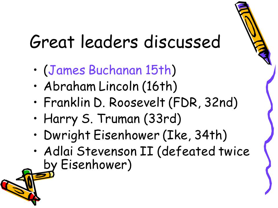 Great leaders discussed