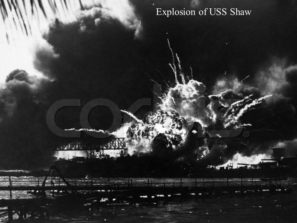 Explosion of USS Shaw